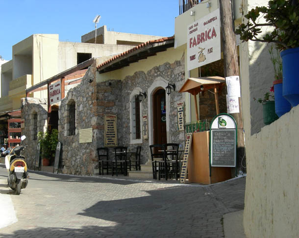 Olive oil factory has become a cafe