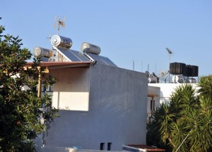 Rooftop solar water systems at our apartment complex