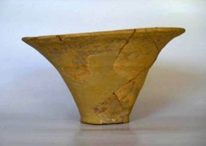 Conical vessels were used for pouring libations to he gods