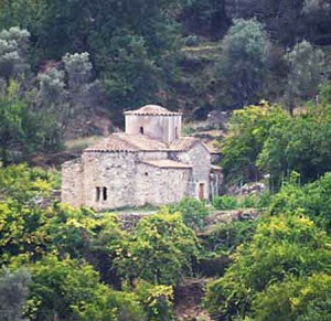 Aghios Evtichios, a Byzantine era church, is just outside the city