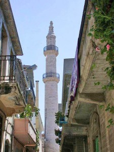 Minarets can be seen everywhere in old town