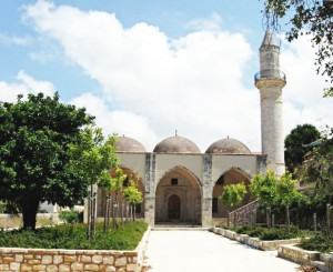 The Veli Pasha Mosque was built over a Christian church
