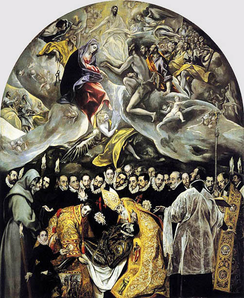 The Burial of Count Orgaz is considered one of El Greco's finest masterpieces while living in Toledo