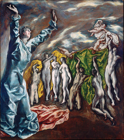 """Vision of Saint John"" is a classic example of El Greco's elongated figures and bold colors"