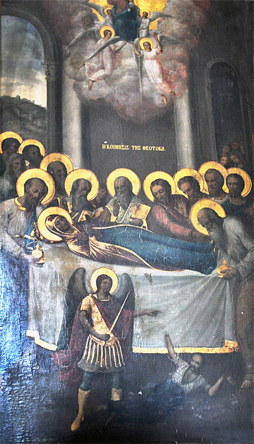 Painting of the Dormition of the Theotakas (Virgin Mary)