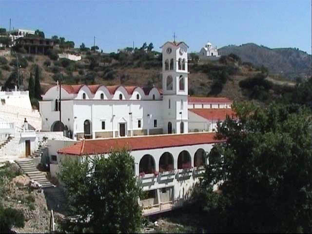 The cathedral of Aperi is the religious center of the island