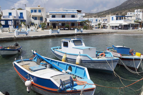 Well-kept fishing boats in Finiki harbor