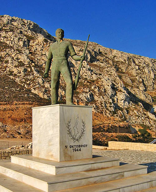 Menetes War Memorial is a tribute to the resistance fighters who won freedom for the island