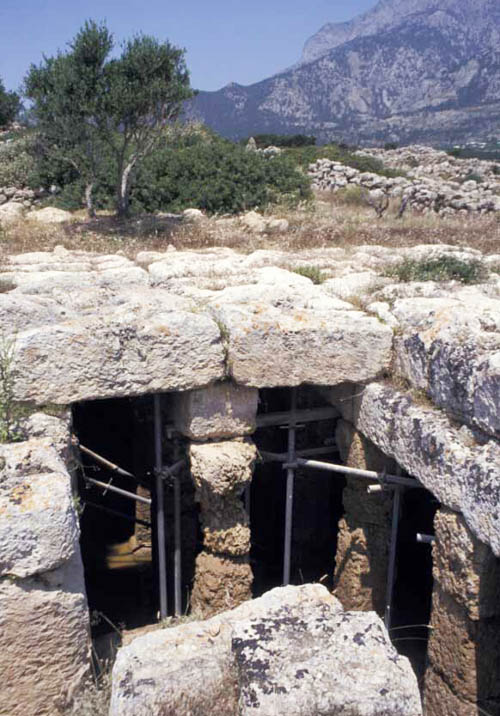 A cistern once provided water for the Roman settlement near here