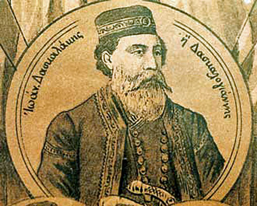 Daskalogiannis was a wealthy shipping tycoon from the Sfakian village of Anopolis.