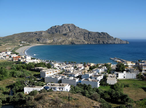 Plakias is a pleasant village not far from the monastery's stoney ridge.