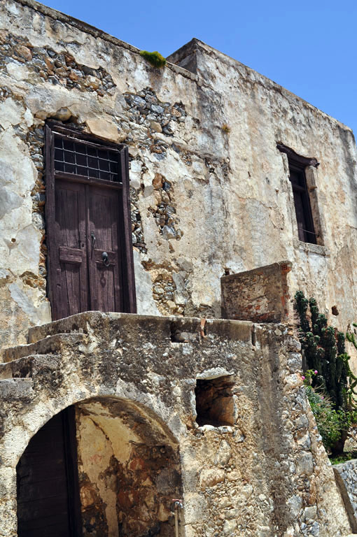 Some of the damaged parts of Piso Preveli are still awaiting renovation